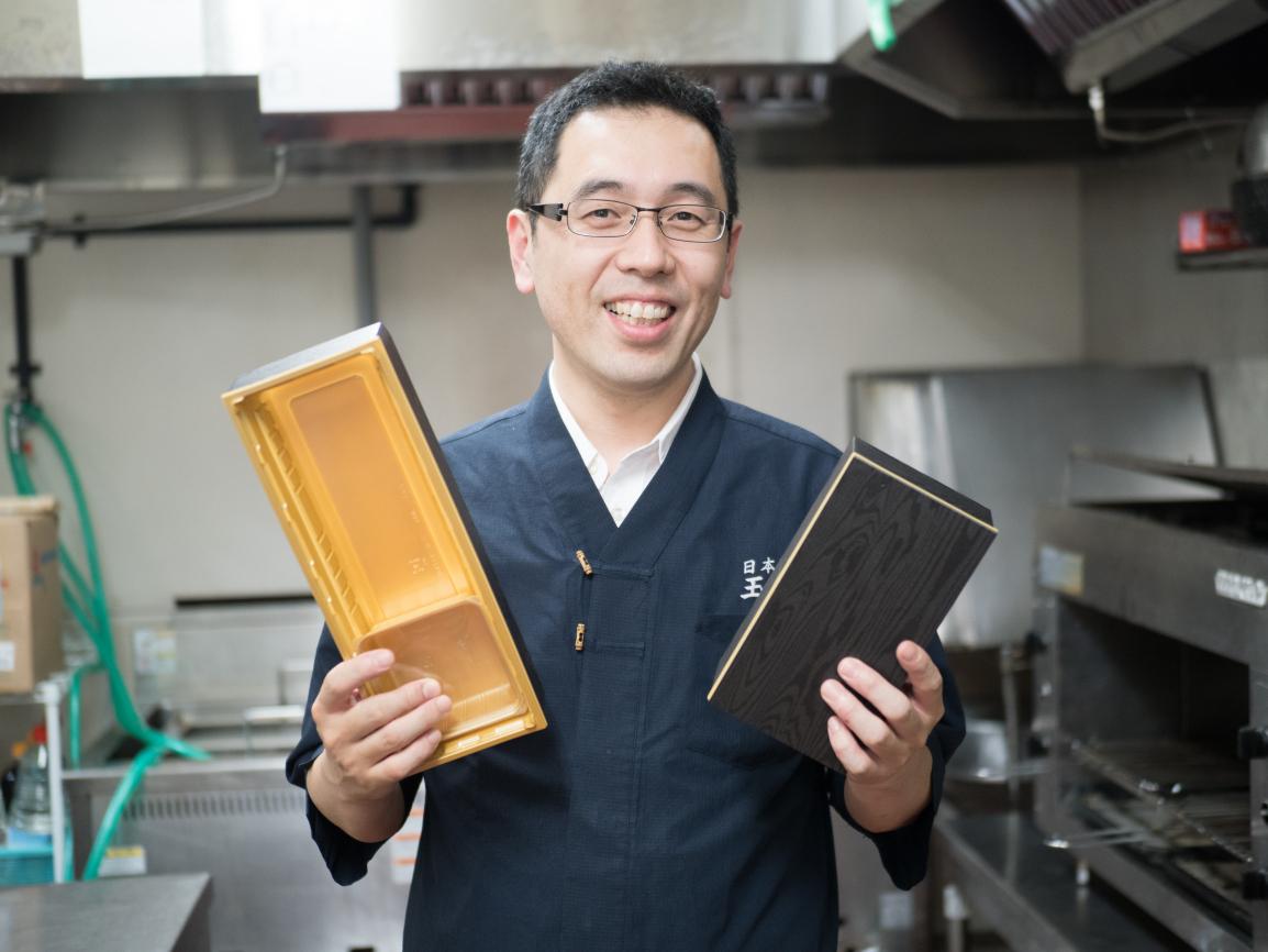 日本橋玉ゐ 佐藤営業部長とアクタ容器