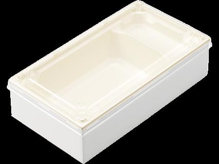 ワン折重70×37B-43白エンボス