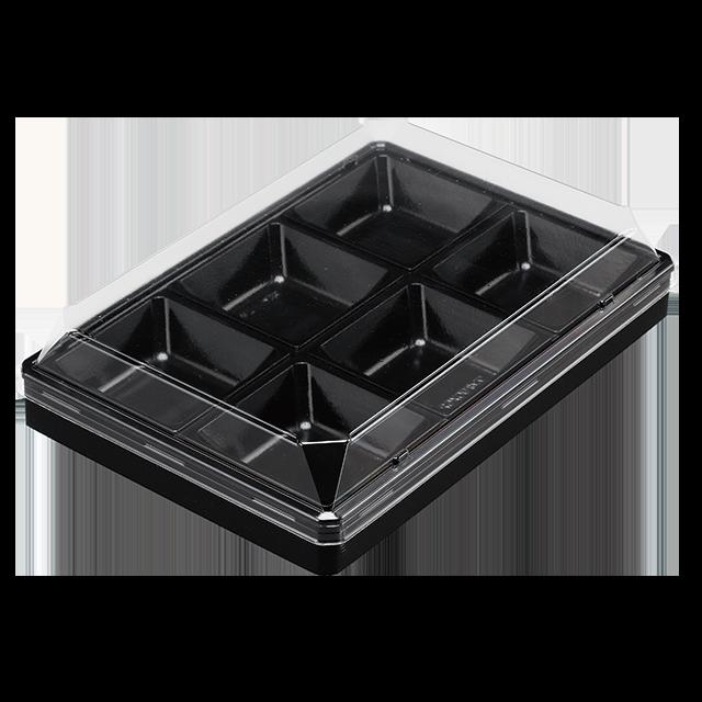 ワン折 90×62-6 黒エンボス