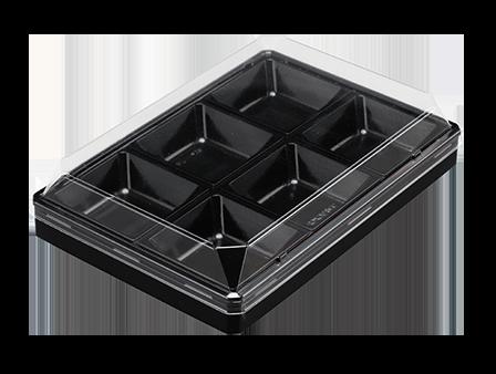 ワン折90×62-6 黒エンボス